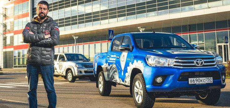 Новый мировой рекорд Федора Конюхова при поддержке Toyota Hilux